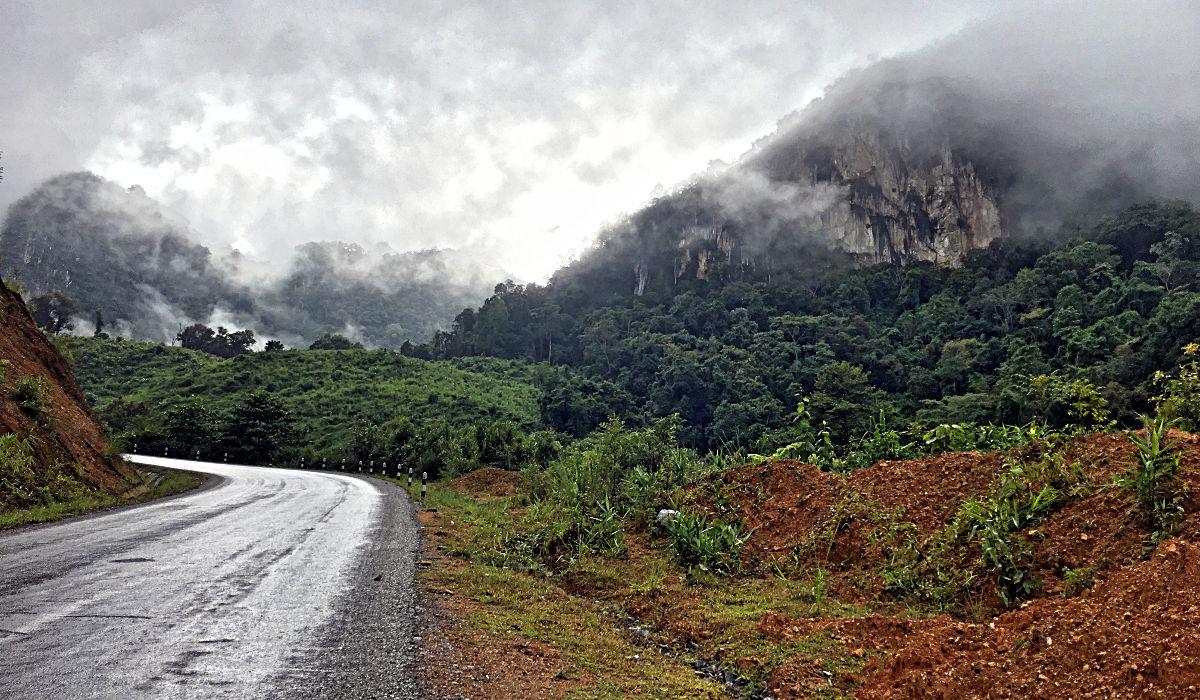 Auf meinem Weg durch die Berge hingen der Nebel und die Wolken immer tiefer und tiefer. (Foto: Ruti)