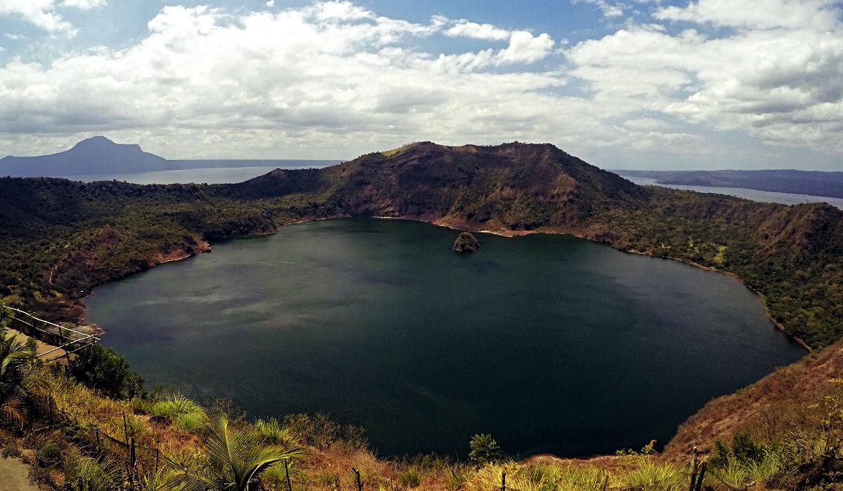 Der Taal Vulkan in Tagaytay auf den Philippinen