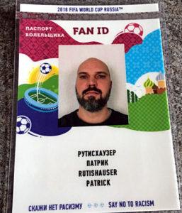Die FAN-ID ist ein Ausweis, den jeder WM-Ticket-Besitzer zusätzlich beantragen muss. Sie gilt auch als Visum. (Foto: Ruti)