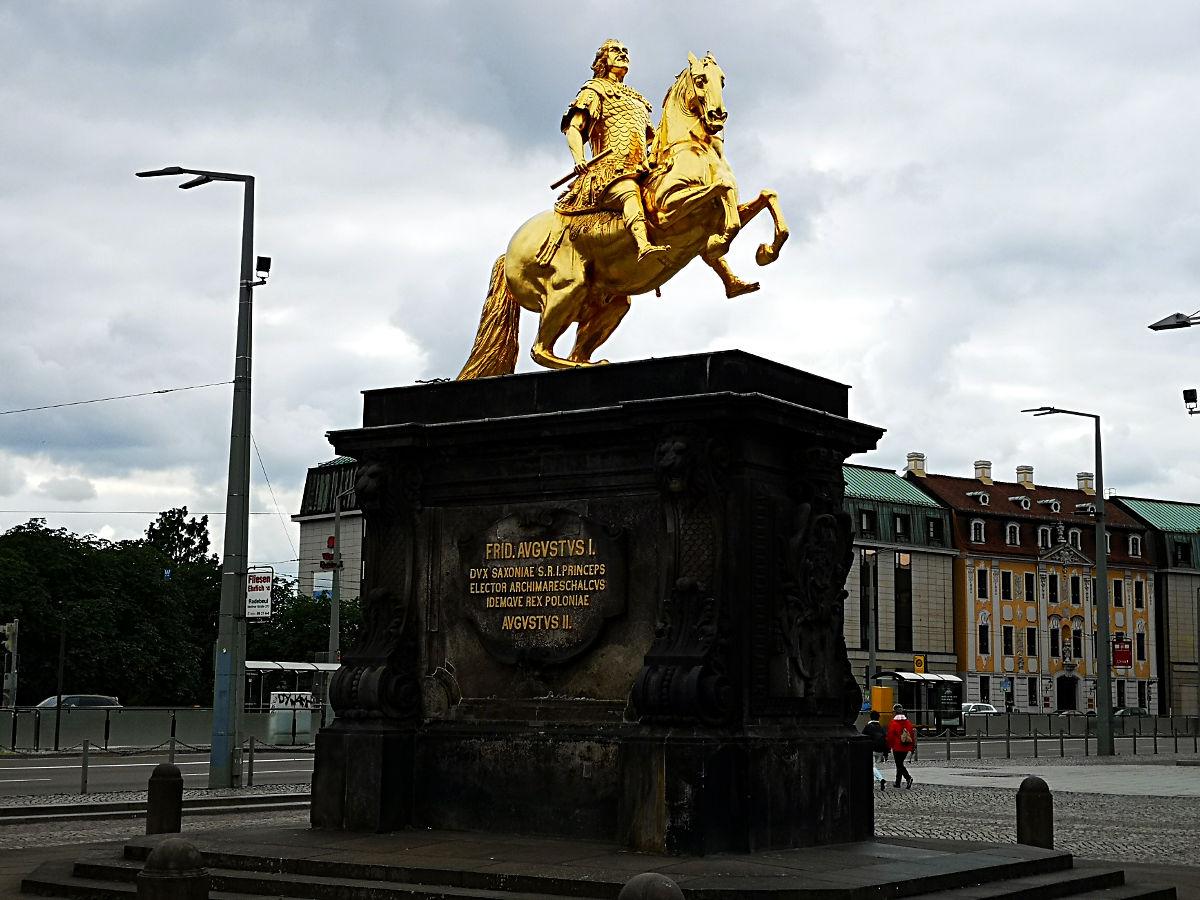 August der Starke als Goldener Reiter (Foto: Ruti)