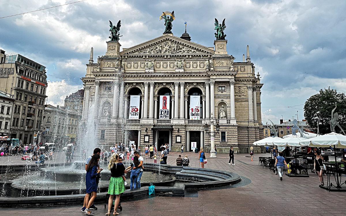 Die Oper in Lwiw in der Ukraine (Foto: Ruti)