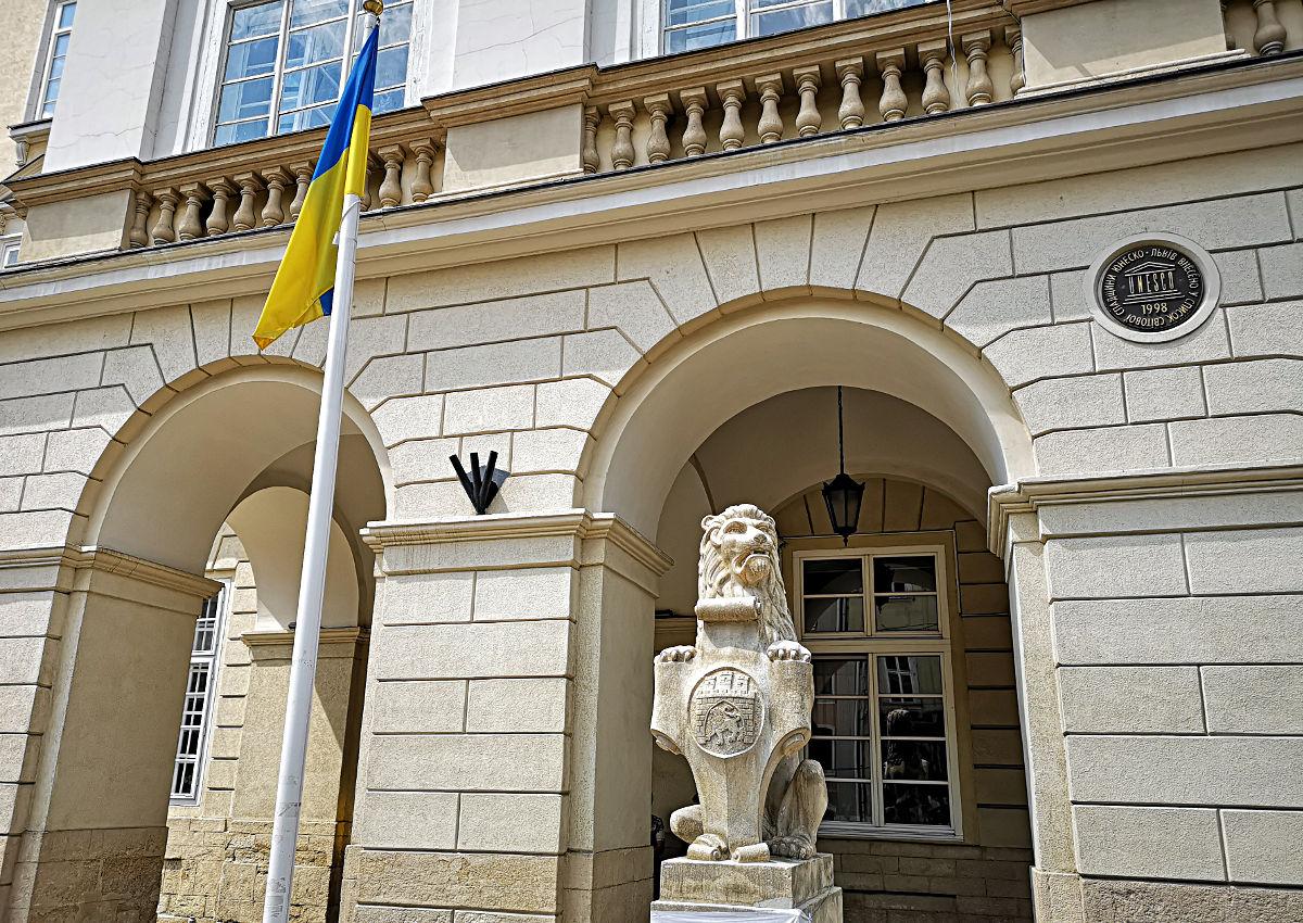 Lwiw stammt vom slawischen Wort für Löwe und überall in der Stadt findet man den König der Tiere. (Foto: Ruti)
