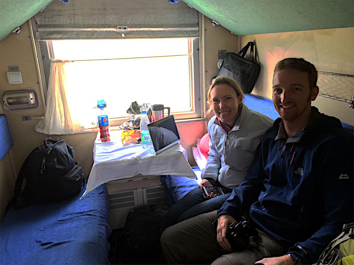 Rob und Catherine waren auf dem Weg von Irkutsk nach Ulaanbaatar meine mein Abteil-Genossen aus Südafrika. (Foto: Ruti)