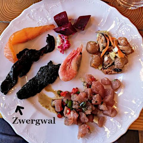Zwergwal von einem Buffet in Reykjavik. (Foto: Ruti)