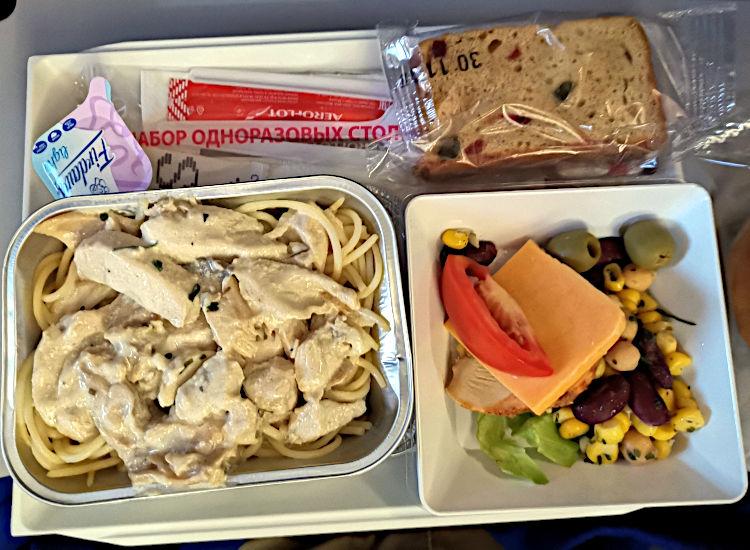 Aeroflot Frühstück