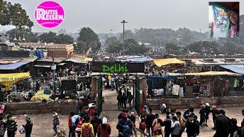 Der Markt vor Jama Masjid, Indiens größter Moschee (Foto: Ruti)