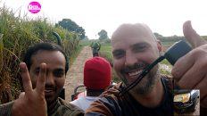 Indien auf dem Land - Starkregen, Unfall und jede Menge Zuckerrohr (Foto: Ruti)