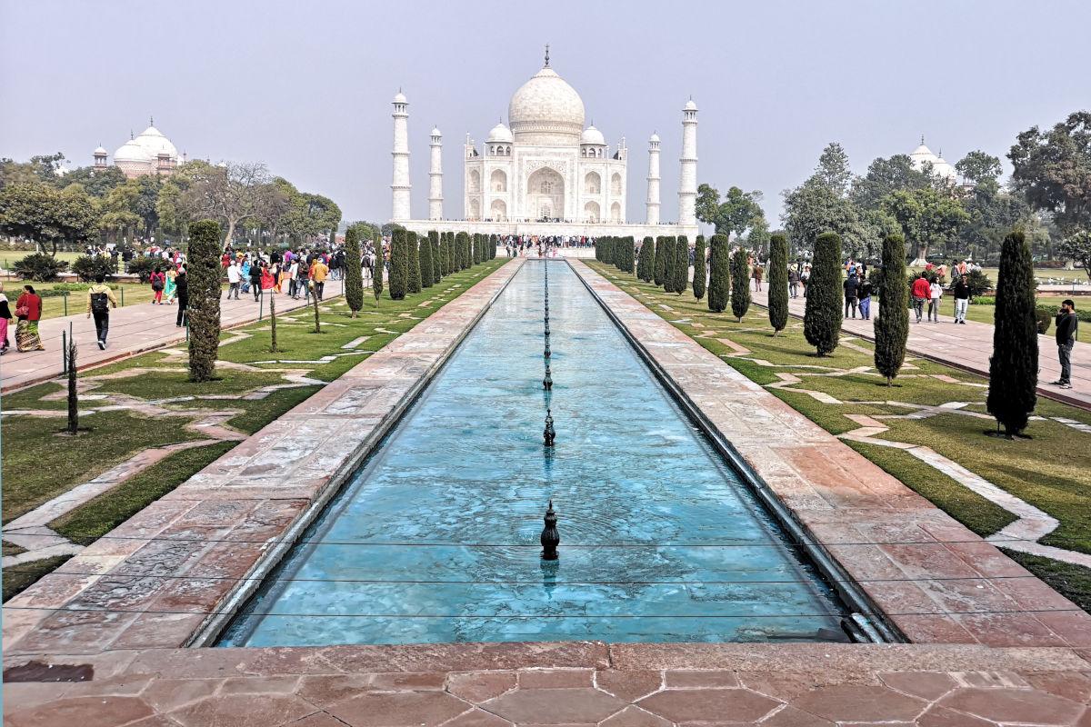Diese Sicht ist DER Klassiker unter den Fotos vom Taj Mahal. (Foto: Ruti)