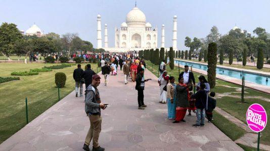 Zu besuch beim Taj Mahal in Agra (Foto: Ruti)