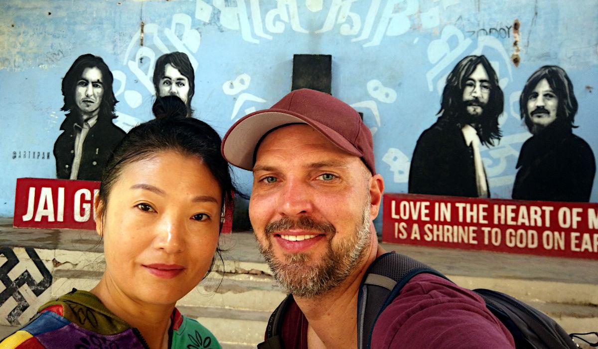 So ein Zufall: ich war mit Yoko Ono im Beatles-Ashram. Kleiner Spaß, das ist Effie aus China. (Foto: Ruti)