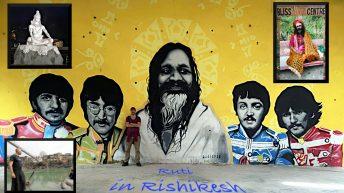 Ein Teil Rishikeshs entspricht dem Hippie-Klischee Indiens. (Foto: Ruti)