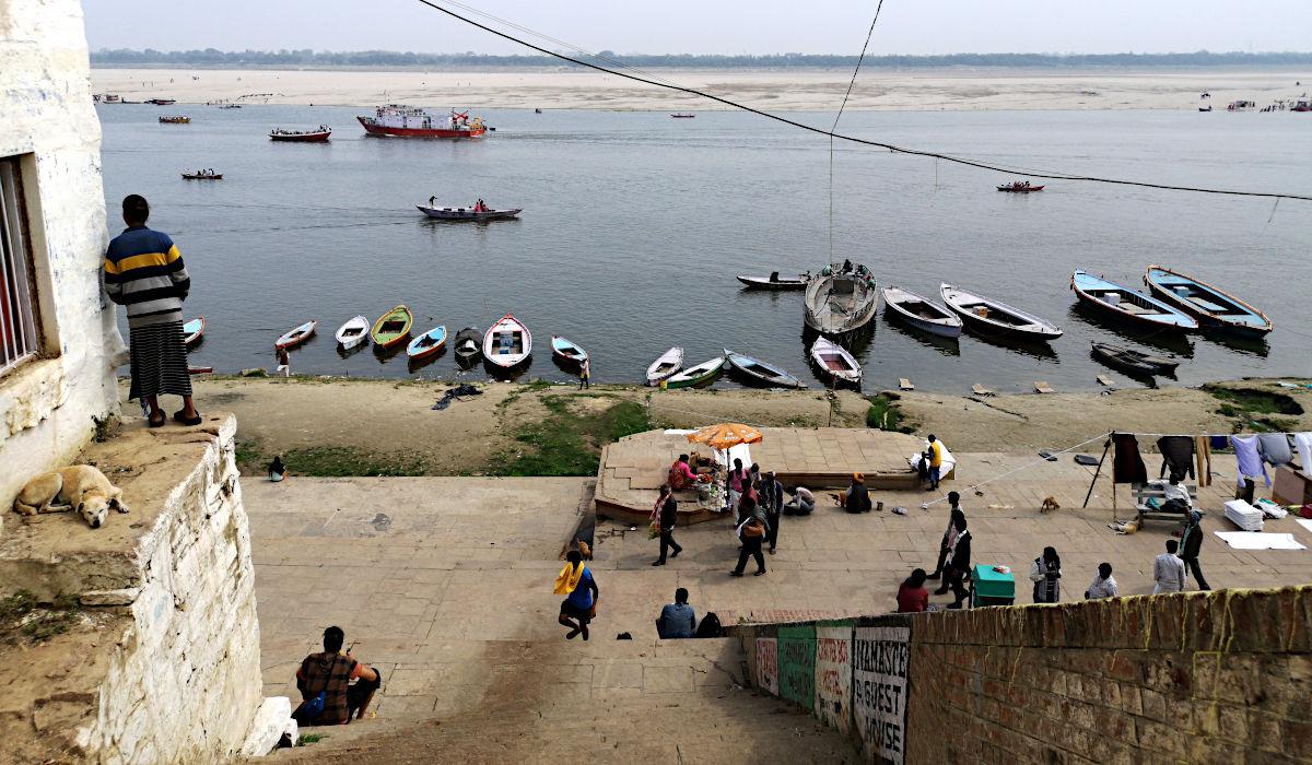 Der Fluss in Varanasi ist die Abkürzung zur Erlösung. (Foto: Ruti)