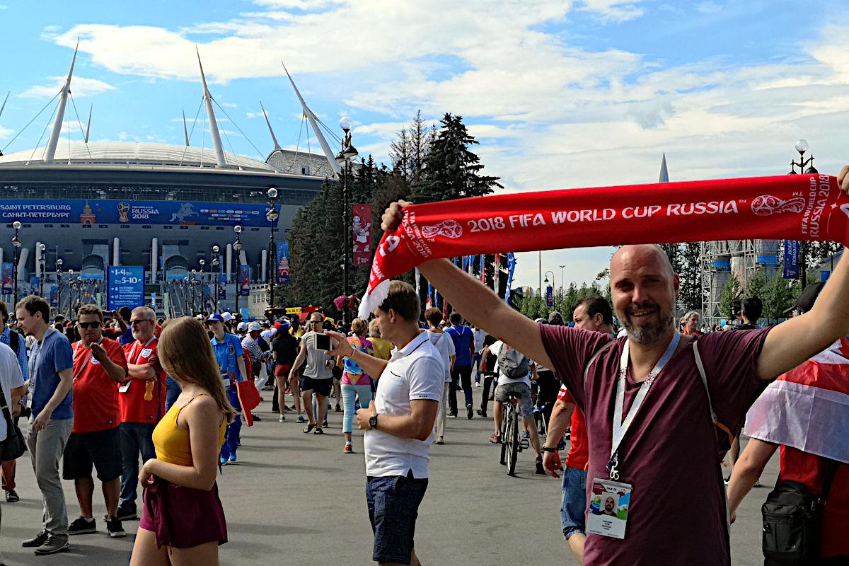 Fußball-WM in Russland - natürlich wollte ich dabei sein. (Foto: Ruti)