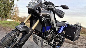 Meine Yamaha Ténéré 700 mit den Anbauten für die große Reise. (Foto: Ruti)