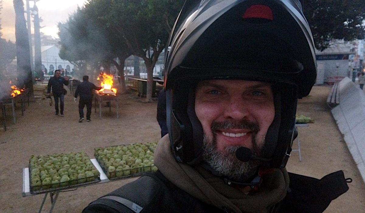 Als Anfänger auf Motorrad-Reise - zufällig zum Artischocken-Fest
