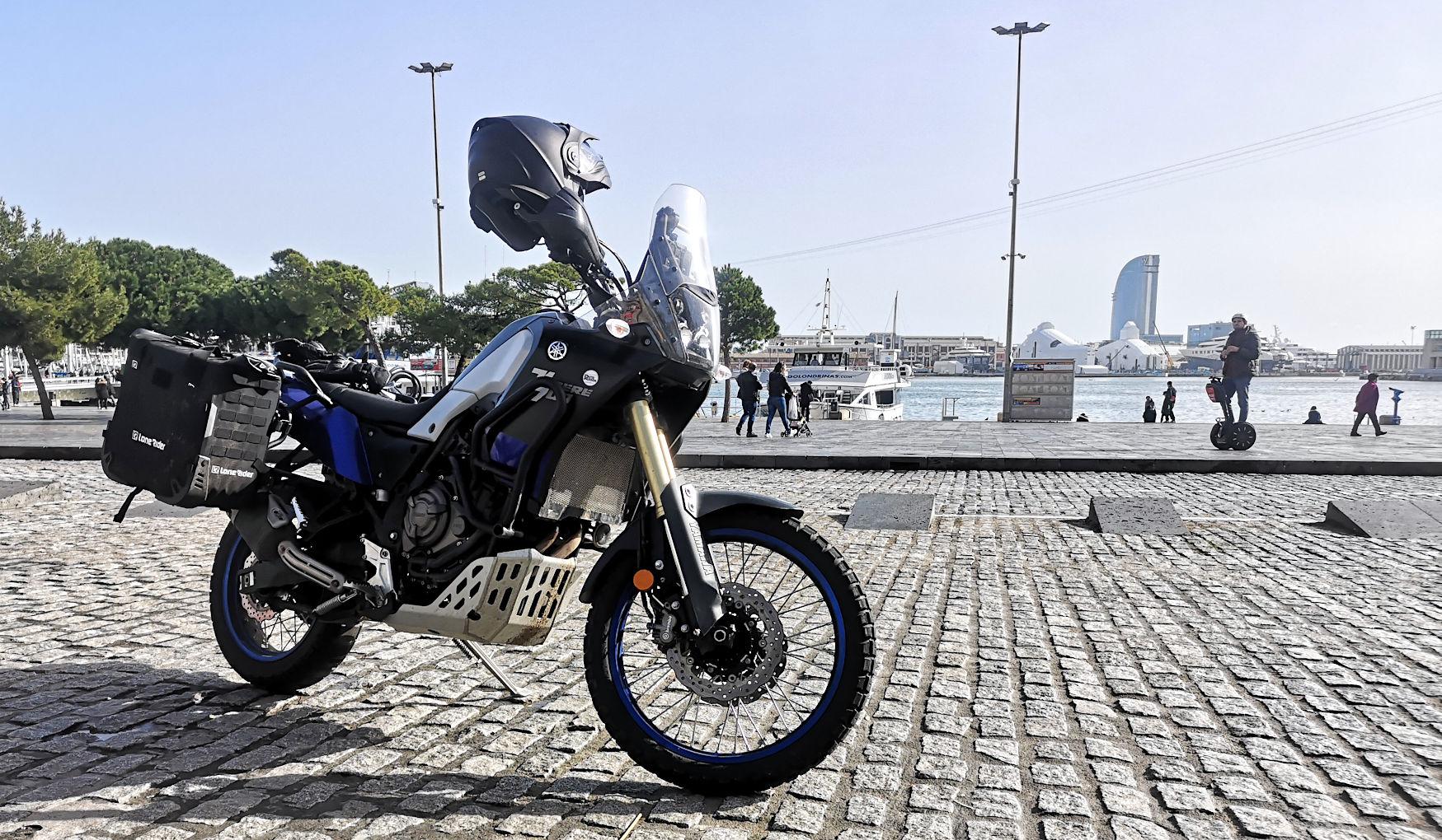 Als Anfänger auf Motorrad-Reise - Barcelona