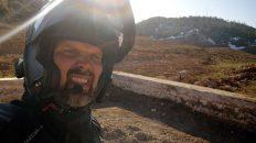 Auf meiner 3. Etappe in Afrika treffe ich auf Schnee. (Foto: Ruti)