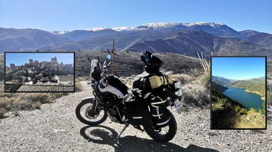 Mit der Ténéré durch die Sierra Nevada bis zur Alhambra (li.)