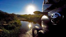 Mit dem Motorrad unterwegs im Campo der Algarve (Foto: Ruti)