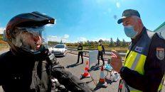 Grenzübergang zwischen Portugal und Spanien zu Corona-Zeiten (Foto: Ruti)
